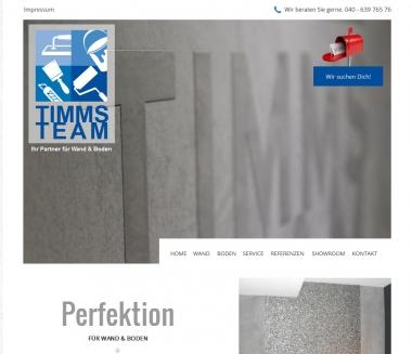 Timms Team, Sanierungen, Wände & Böden